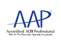 AAP Accredited ACH Professional NACHA-The Electronic Payments Association Logo
